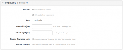 Flowplayer Plugin (Video)