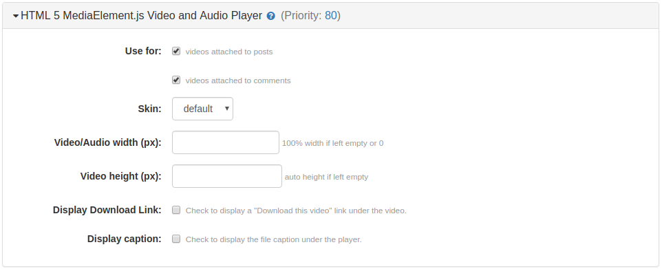 HTML 5 MediaElement.js Video and Audio Player Plugin