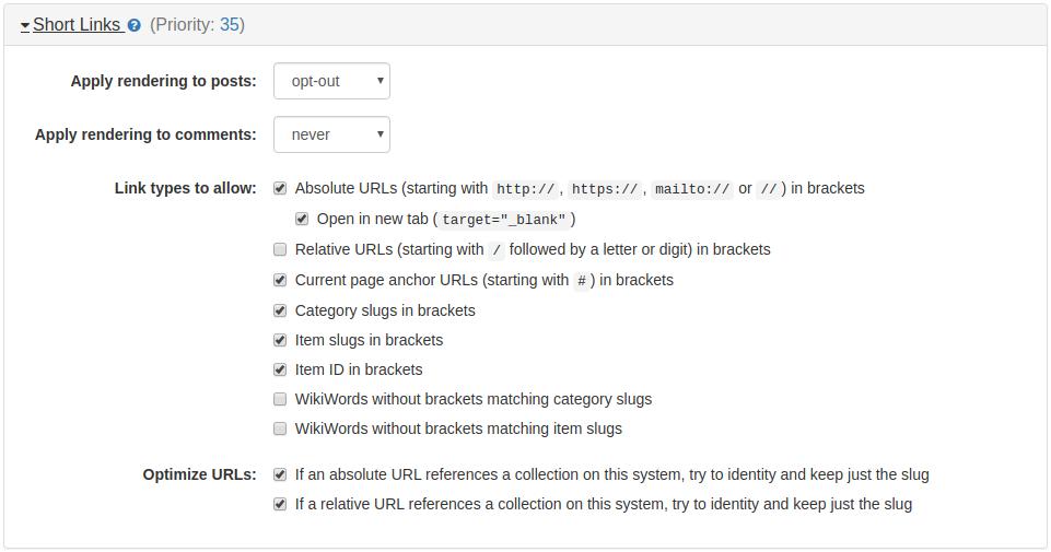 Short Links / ForeverLinks / Quick Links Plugin